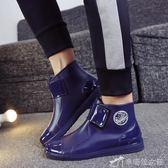 雨靴 雨鞋男士短筒秋冬雨靴低幫防滑防水鞋時尚膠鞋水靴套鞋 辛瑞拉