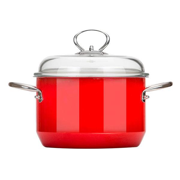 魔力坊嚴選 靚彩不鏽鋼800度高溫琺瑯燒製湯鍋(6.3L/24cm)(MF0471)