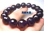 『晶鑽水晶』天然紫水晶手鍊 12mmA級-鑽石切割超亮眼~禮物佳~附禮盒*免運費