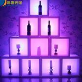 紅酒櫃led酒吧家具發光時尚吧臺酒柜子創意酒架大廳展示柜格子紅酒柜子