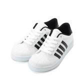 C&K 四線休閒板鞋 白黑 男鞋 鞋全家福