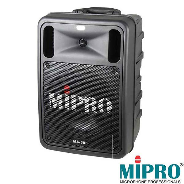 MIPRO 嘉強 MA-505 豪華型手提式無線擴音機含CD及MP3播放座/藍芽/USB/ 附贈無線兩支手握式麥克風