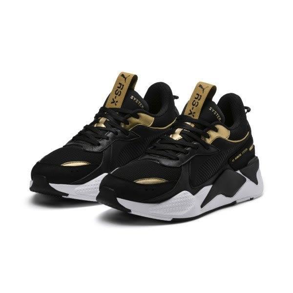 ISNEAKERS PUMA RS-X Trophy 369451-01 黑色 黑金 復古 老爹鞋 男女鞋
