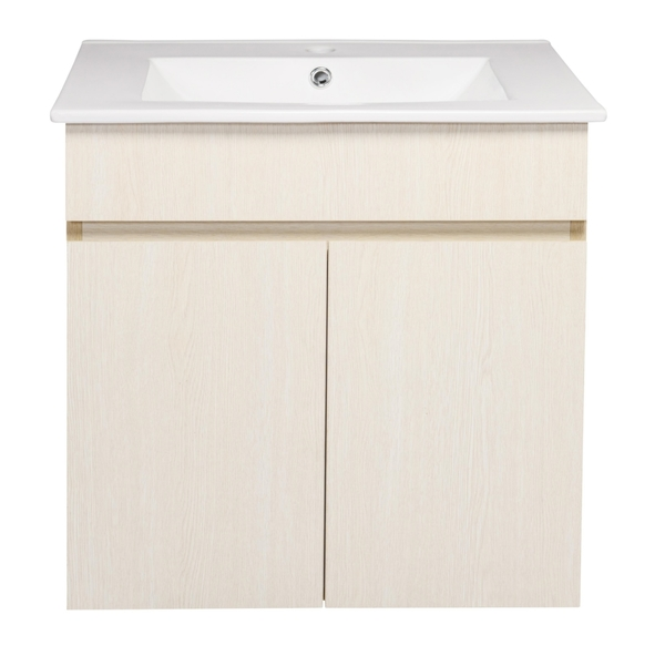 *素雅簡約風*洗臉盆浴櫃 寬61*深47cm 含水龍頭及安裝配件 衛浴 浴室 防水PVC發泡板 精緻木紋貼皮