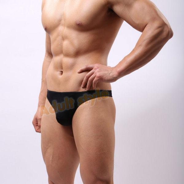 情趣內褲 男性 情趣用品 狂野男孩(黑)3D剪裁U凸囊袋丁字褲-XL號『年中慶』