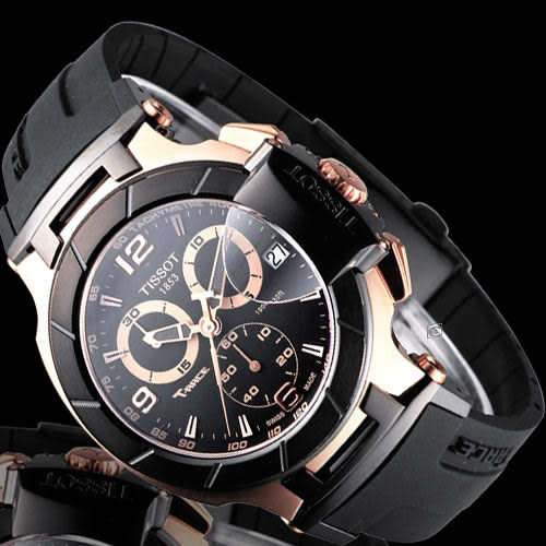 TISSOT T-RACE 競速系列 計時腕錶  T0484172705706 玫瑰金色