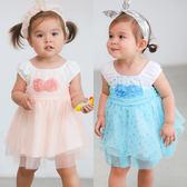 無袖網紗裙 女寶寶 立體玫瑰 亮片 連身裙 連衣裙 洋裙 Augelute Baby 52353