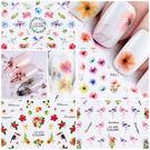 【FCA】七彩鳥語繁花3D背膠美甲貼紙 貼花 貼紙 七彩 花朵 仙人掌(多款可選)