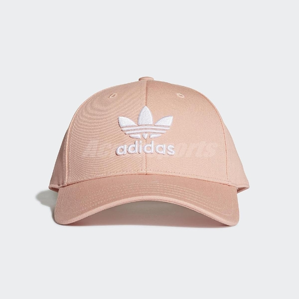 adidas 帽子 Trefoil Baseball Cap 可調整 老帽 棒球帽 男女款 穿搭必備 粉色【PUMP306】 DV0173