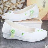 繡花鞋古風漢服鞋帆布鞋女鞋學生鞋舞蹈鞋坡跟古裝鞋 【低價爆款】