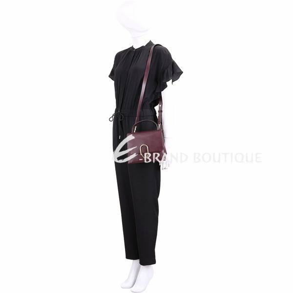 3.1 Phillip Lim Alix 金屬迴紋針造型手提肩背包(勃根地酒紅) 1840469-74