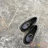 日系少女愛心搭扣低跟圓頭小皮鞋娃娃鞋【聚可愛】