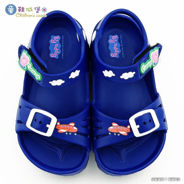 童鞋城堡-佩佩豬 喬治豬 蝴蝶小花 輕量涼鞋 PG4530 桃/藍 (共二色)