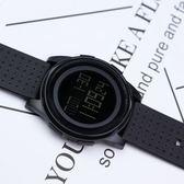 正韓簡約運動手錶港風電子錶夜光防水多功能手錶學生男女錶數字式