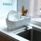 日本碗筷收納盒小號單層廚房水槽置物晾放碗架小型碗碟碗筷瀝水架 格蘭小舖