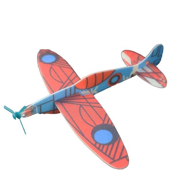 DIY 保麗龍飛機童玩(塑膠彩袋裝)G3/一袋10支入(定10) 迴力飛機 前螺旋槳造型-錸H0072