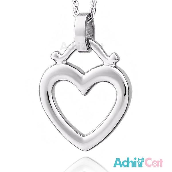 AchiCat 鋼項鍊 珠寶白鋼 夢幻之心 愛心 C1559