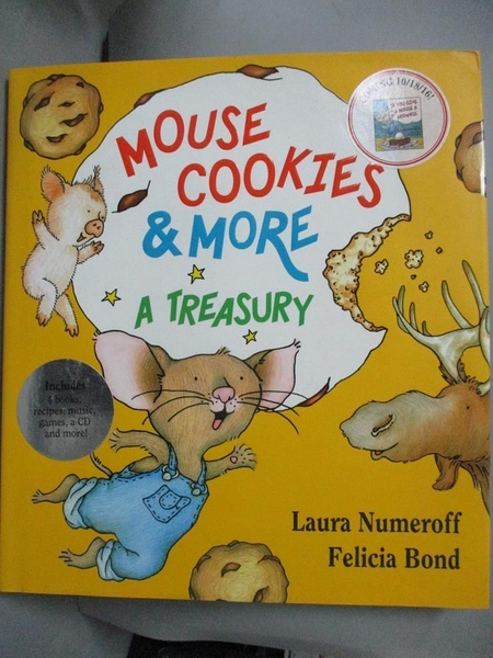 【書寶二手書T8/少年童書_ZFR】Mouse Cookies & More: A Treasury_Numeroff, Laura Joffe