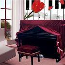 加厚絲絨鋼琴罩鋼琴全罩布藝高檔鋼琴套鋼琴防塵罩琴凳罩歐式