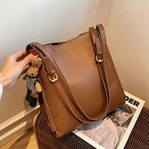 復古大包包女2021新款潮時尚爆款大容量側背包網紅百搭洋氣托特包 韓國時尚週