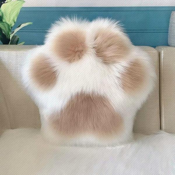 北歐可愛貓爪抱枕靠墊沙發靠背家用床頭腰靠椅子靠枕長毛絨趴睡枕 滿天星