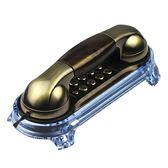 固定有線電話機 復古座機家用壁掛式單機仿古小分機掛機igo   蜜拉貝爾