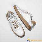 新款小白鞋休閑簡約男鞋舒適板鞋輕松潮流真皮【勇敢者】
