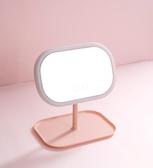 鏡子led燈化妝女鏡帶燈便攜公主宿舍鏡充電臺式補光化妝燈梳妝鏡YXS 潮流時