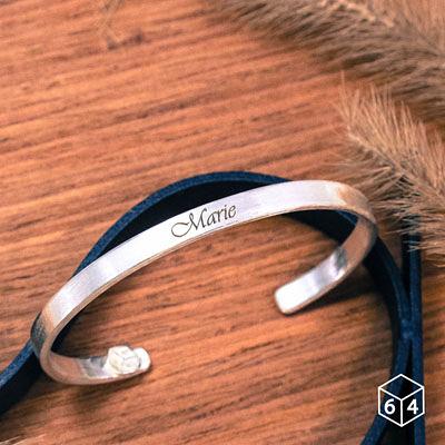 訂製手環/手鐲 刻字姓名手環(小) 英文 文字 999純銀C型手環-64DESIGN