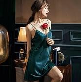 2020新款性感睡衣女夏季冰絲薄款絲綢打底小吊帶v領成人睡衣 【Ifashion·全店免運】
