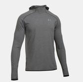 UA Streaker Run [1285042-090] 男款 運動 休閒 連帽 長袖 上衣 透氣 舒適 排汗 灰