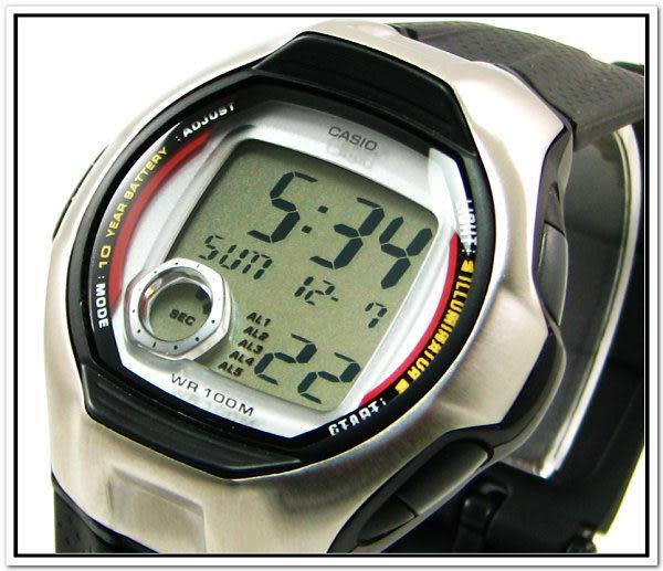 【台南 時代鐘錶 CASIO】宏崑 公司貨 開發票 保固一年 學生軍用 多功能計時碼表 W-751-1A 回饋價