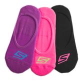 Skechers Neon Liner Sock [S101585-015] 女 船型襪 隱形襪 透氣舒適 3入 紫粉黑