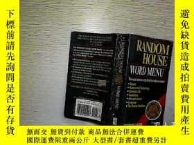 二手書博民逛書店Random罕見House Word Menu (36)Y203