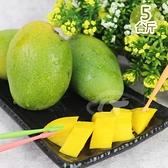 果之家 台灣香甜土芒果5台斤1箱(約20-26顆)