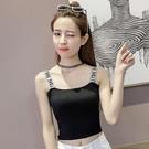 小可愛 背心 字母吊帶上衣潮2020夏季韓版短款針織小背心女修身顯瘦外穿打底衫