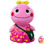 Hamee 日本 NHK 人氣幼教節目 恐龍 絨毛玩偶 掌上型娃娃 抱枕 (粉色) 125416
