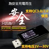 測電流神器★USB電壓/電流測試儀 電量監測 檢測器 支援QC 2.0