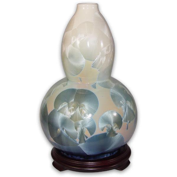 鹿港窯~居家開運結晶釉花瓶~13寸葫蘆瓶;購物清單:1件