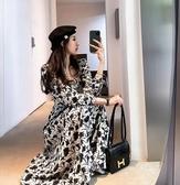 洋裝.長袖連衣裙女.韓版春秋收腰顯瘦氣質方領裙2153#DB603紅粉佳人