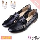 樂福鞋-TTSNAP MIT綁結細緻方頭平底鞋 黑/白/灰