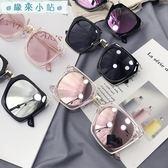 太陽眼鏡 韓版方形百搭復古圓臉太陽眼鏡