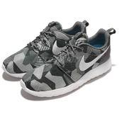 Nike 休閒鞋 Roshe One Print 灰 白 迷彩 低筒 運動鞋 基本款 男鞋【PUMP306】 655206-020