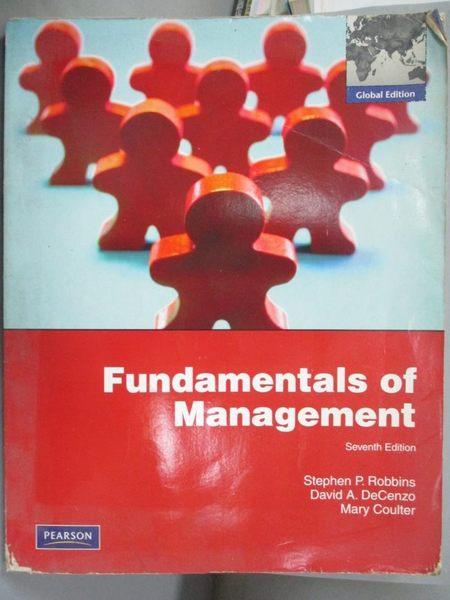 【書寶二手書T1/大學商學_ZFN】Fundamentals of Management 7/e_ Stephen P. Robbins