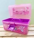 【震撼精品百貨】Hello Kitty 凱蒂貓~三麗鷗HELLO KITTY塑膠收納盒/收納提盒#14195