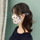 口罩薄款透氣夏季防塵印花桑蠶絲100%真絲面紗女防曬遮陽防紫外線 黛尼時尚精品