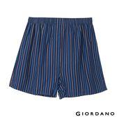 【GIORDANO】男裝高品味沈穩條紋配色四角褲-87 深藍/寶藍