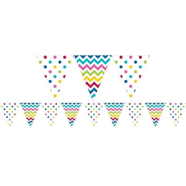 三角旗-幾何點點彩虹