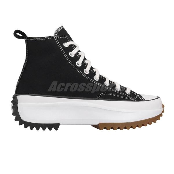Converse 休閒鞋 Run Star Hike 黑 白 男鞋 女鞋 鋸齒鞋 厚底 【ACS】 166800C