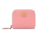 【Cath kidston】胭脂粉色皮革短夾